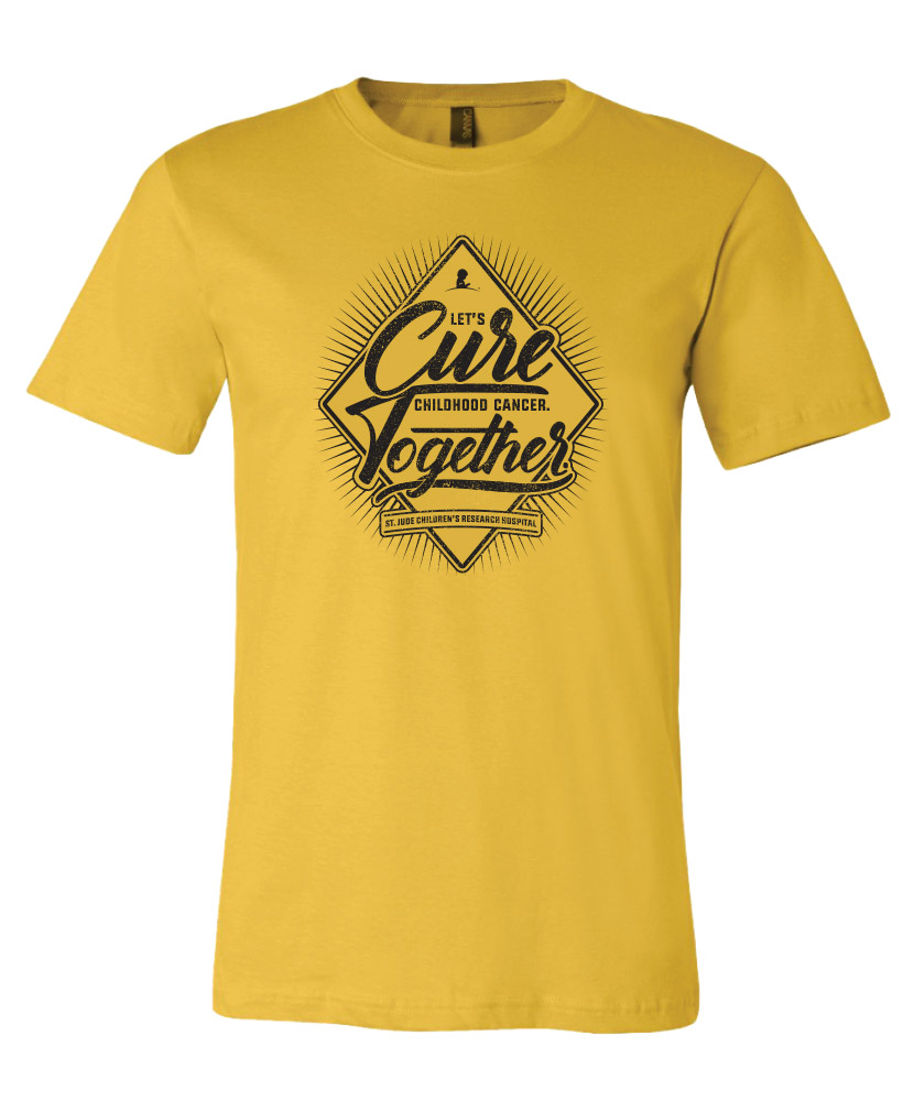 Unisex Let's Cure Childhood Cancer Together Yellow T-Shirt