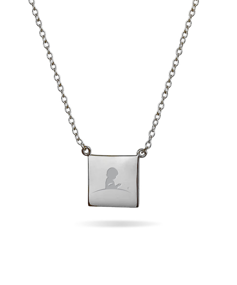 Square Logo Sterling Silver Necklace