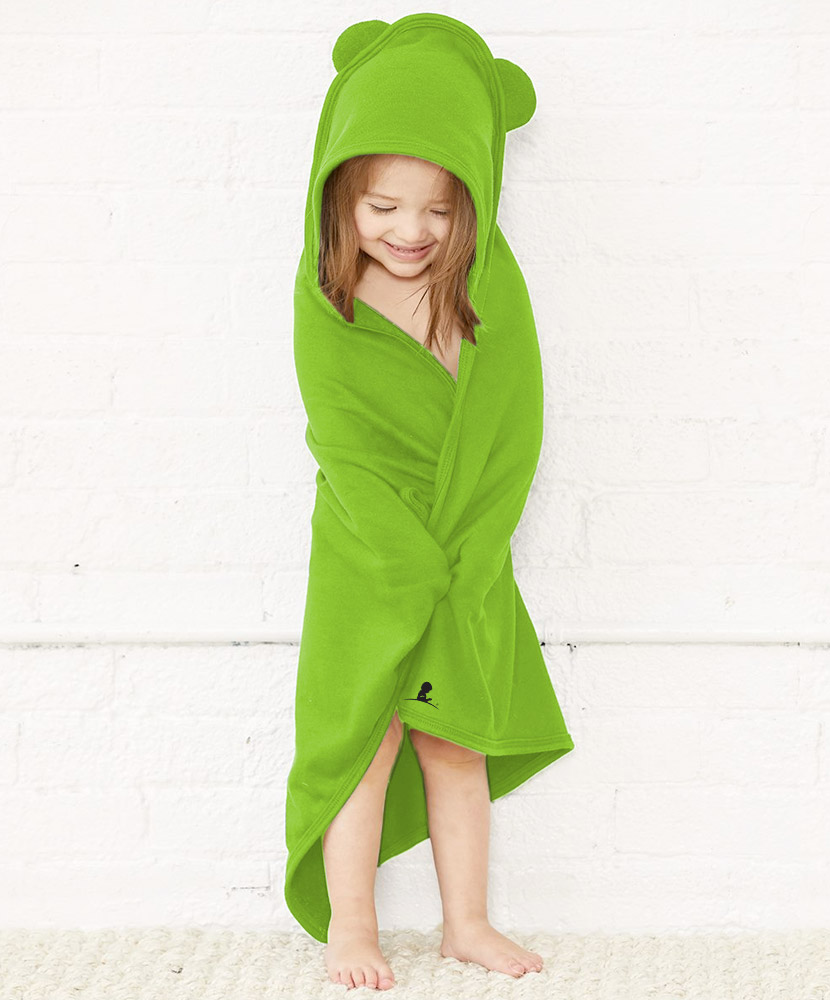 Kids Hooded Towel Wrap With Ears