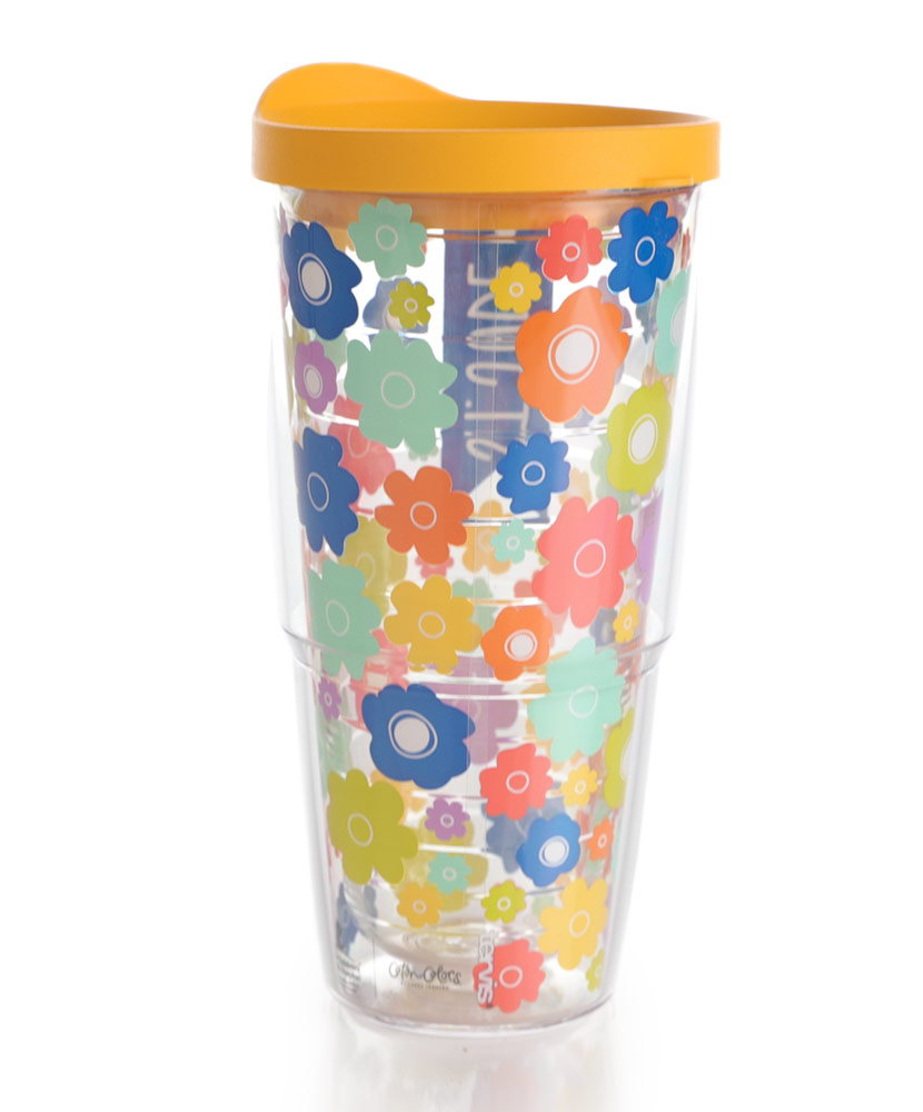 Floral Tervis Tumbler Multicolored 24 oz