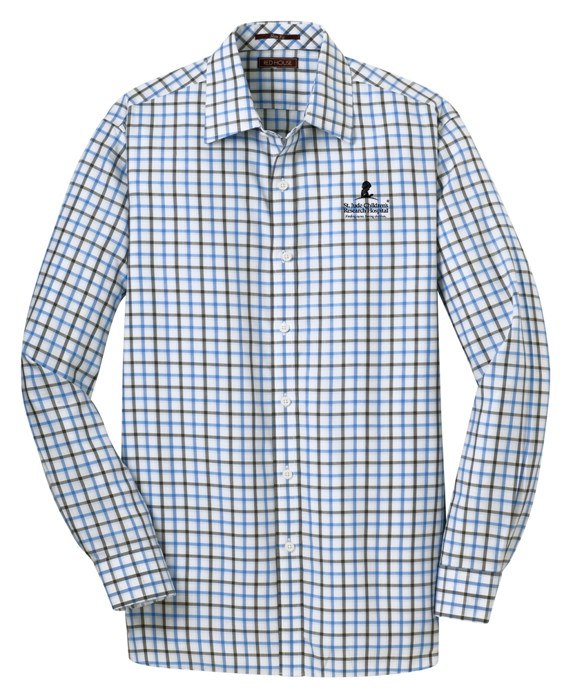Men's Slim Fit Dress Shirt - Tricolor Checked