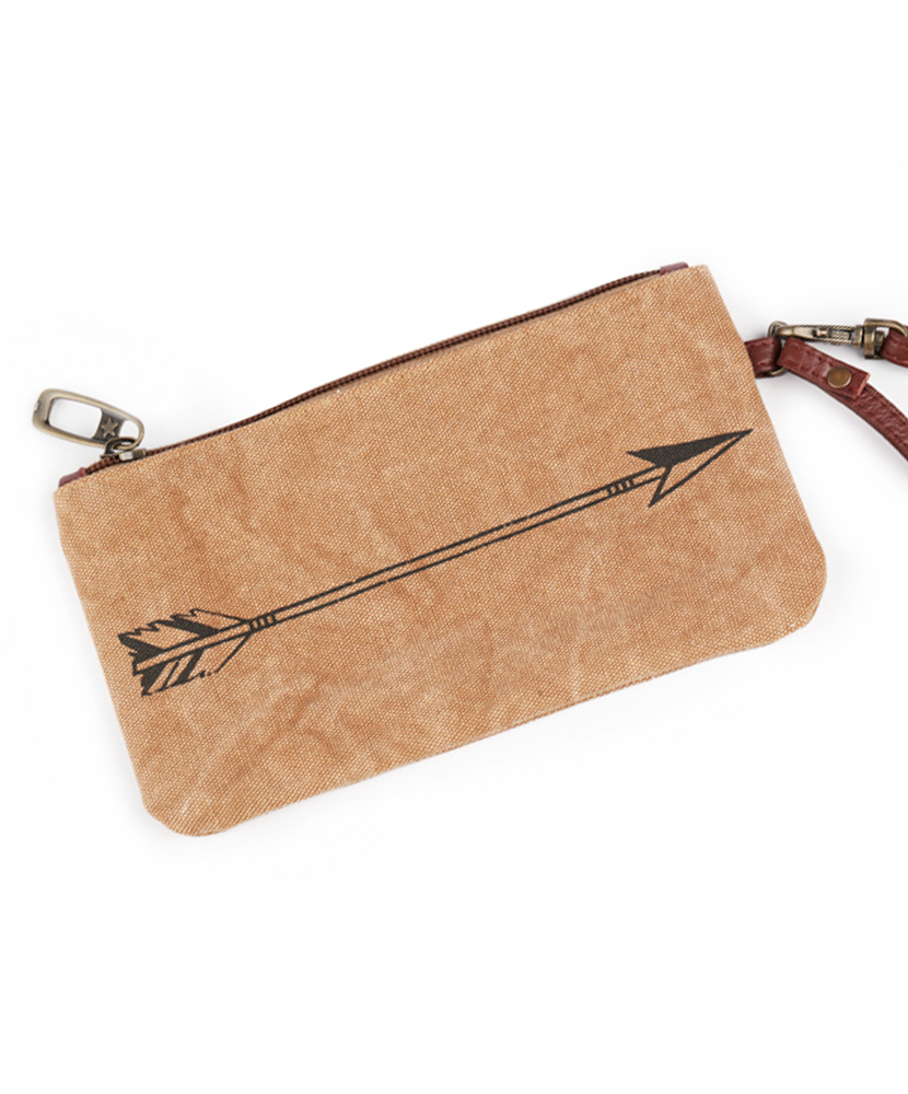 Fierce Mind Canvas Wristlet