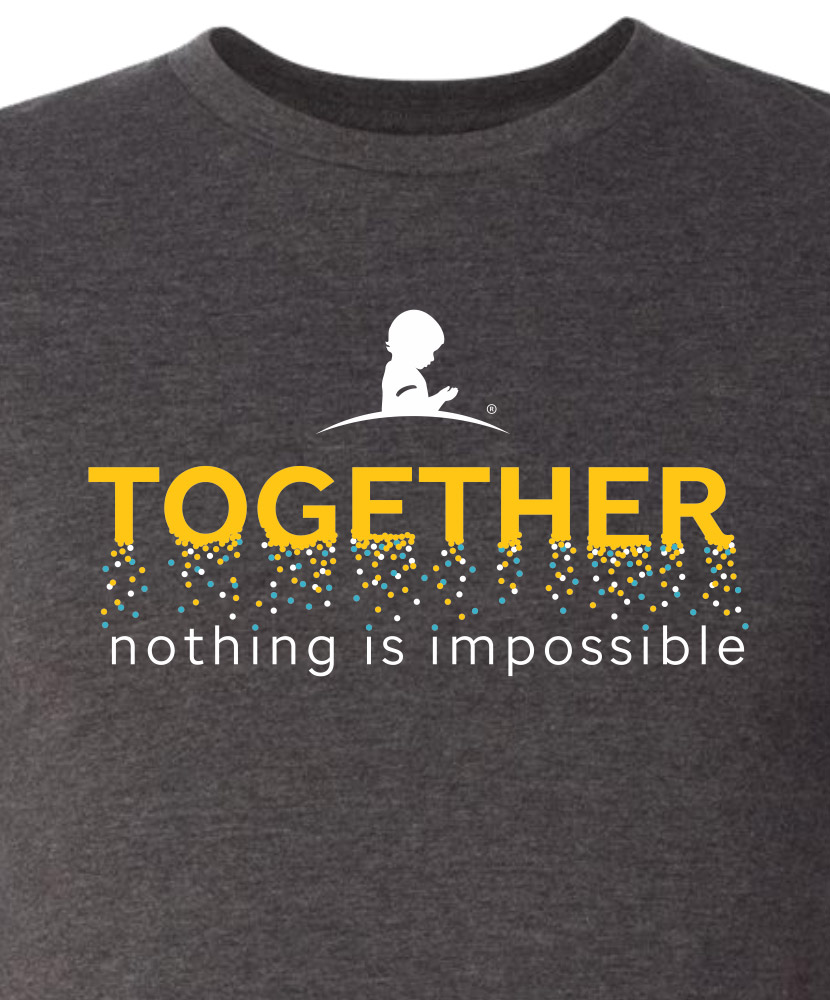 Toddler Together Nothing Is Impossible Confetti T-Shirt