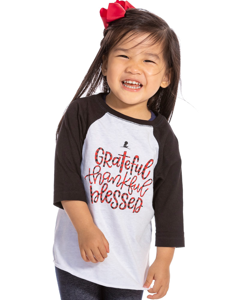 Kids Grateful Thankful Blessed Family T-Shirt