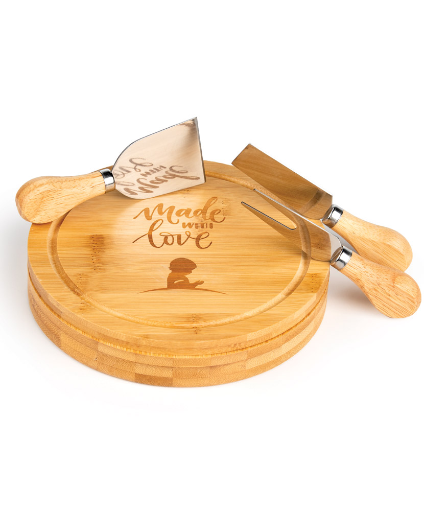 Bamboo Cheese Serving Board