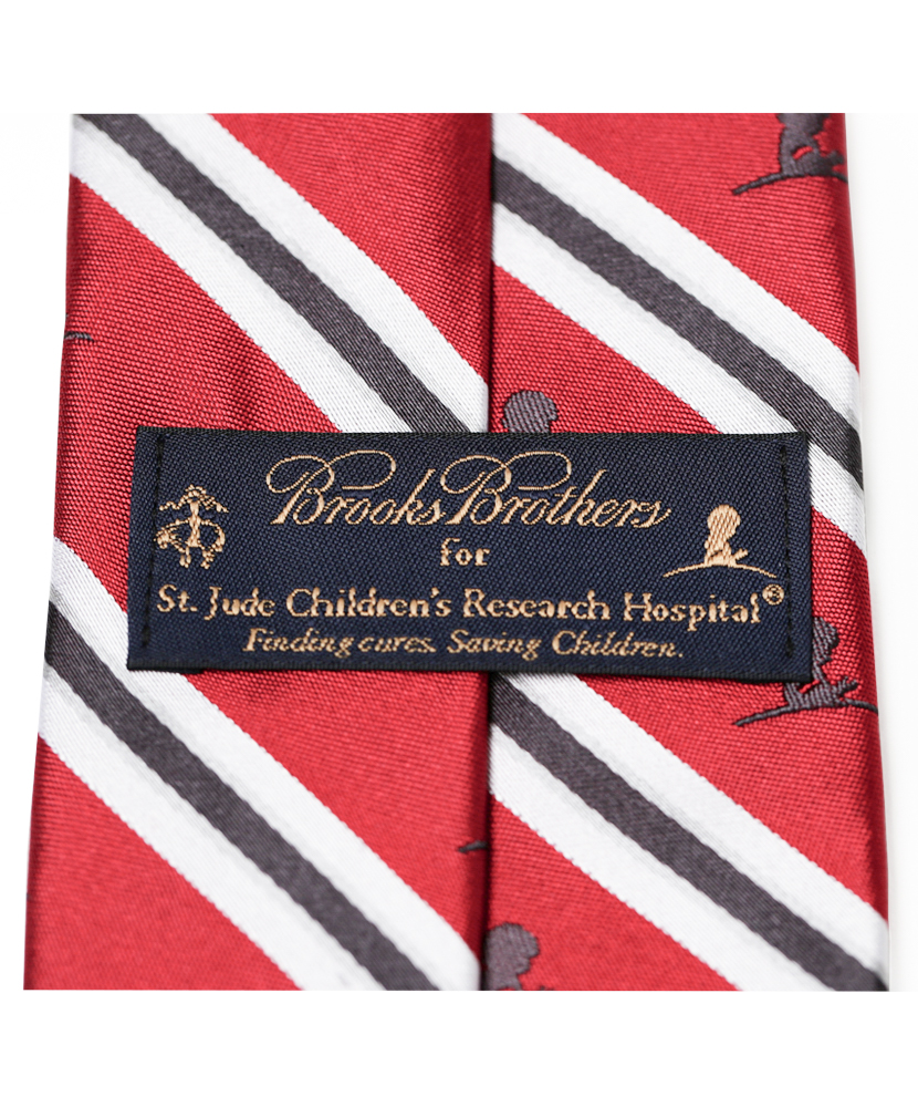 Brooks Brothers® Silk Red & Gray Tie