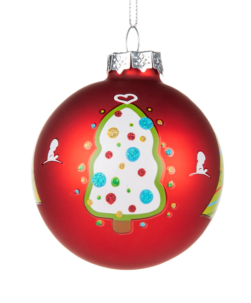"2020 Fun Christmas Tree 3"" Glass Ornament"