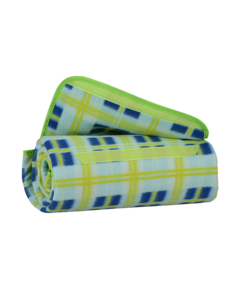 Roll Up Picnic Blanket - Lime Green