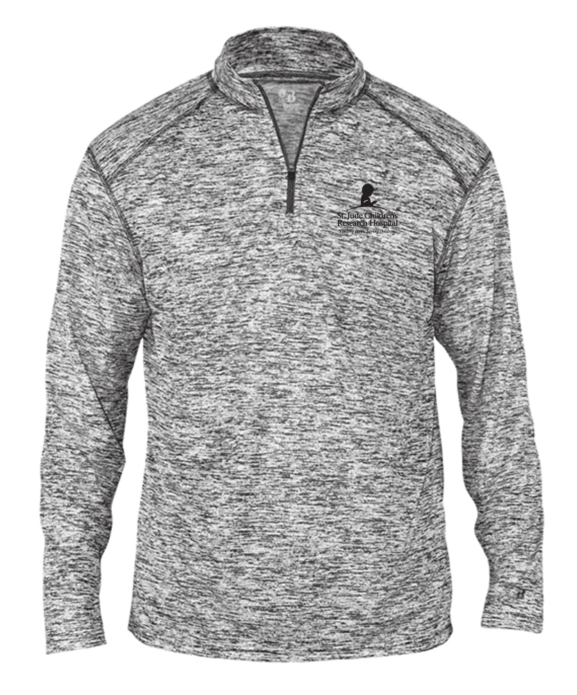 Men's Heathered Quarter Zip Pullover