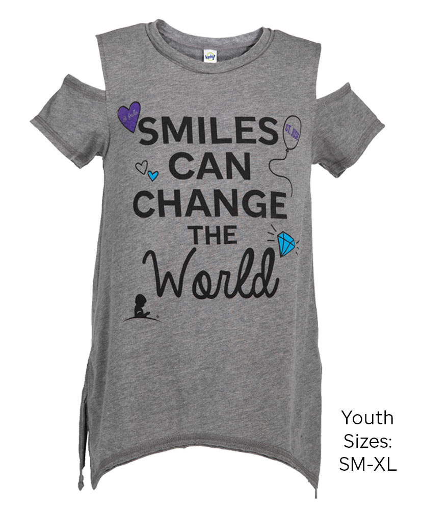Youth Smiles Can Change Cold Shoulder T-Shirt