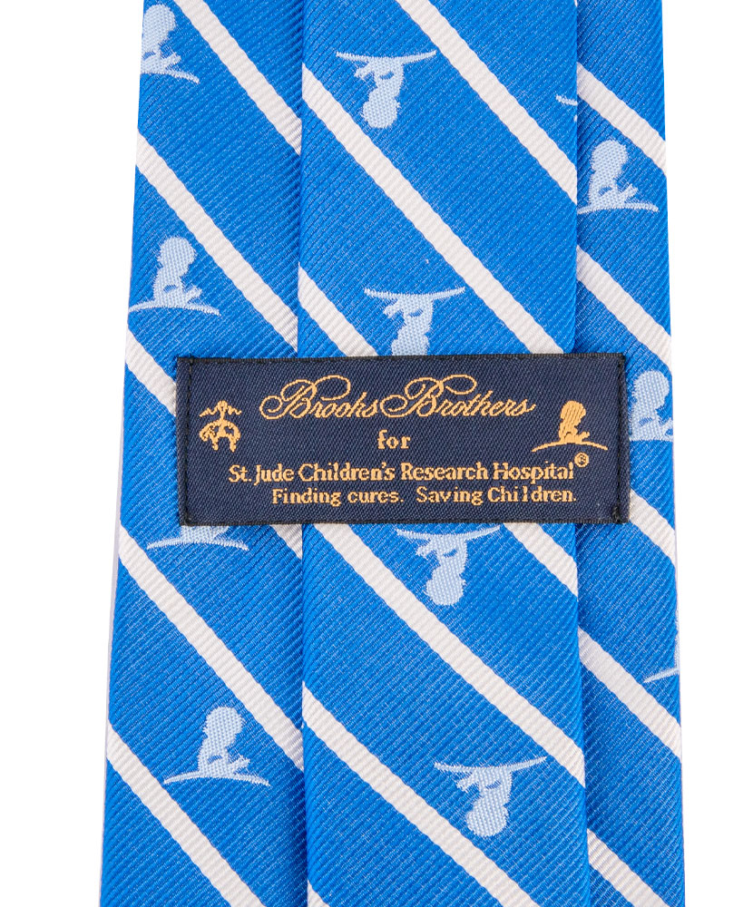 Brooks Brothers® Silk Stripe Tie - Royal