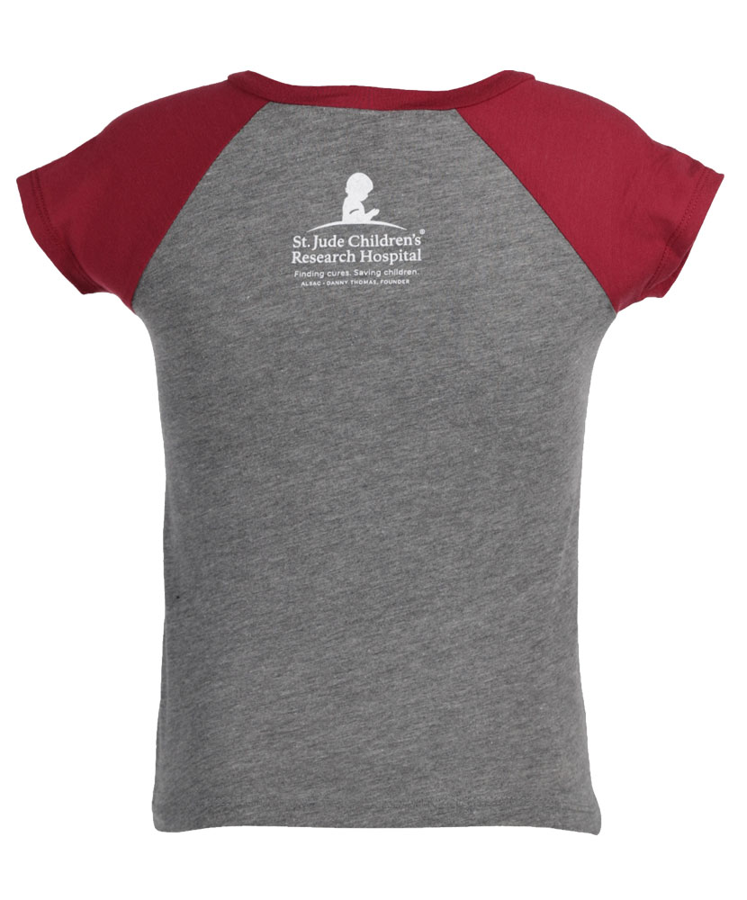 Youth and Toddler St. Jude V-Neck Raglan T-Shirt