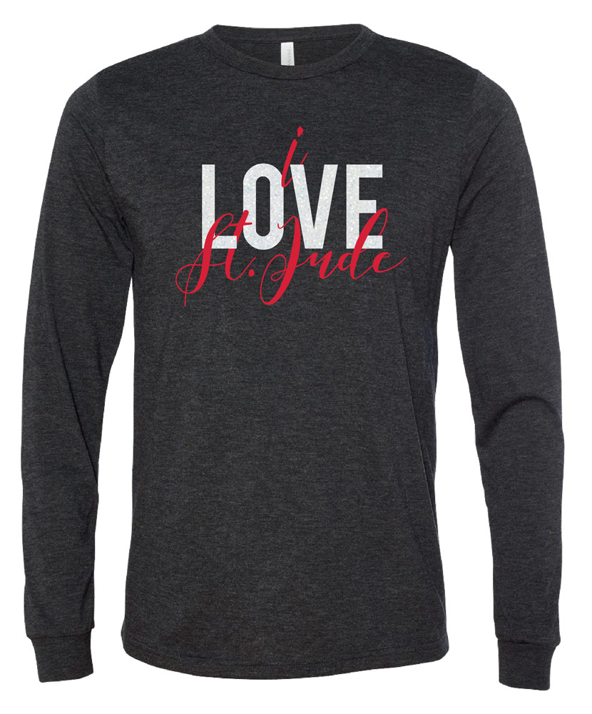 I Love St. Jude Script Long Sleeve T-shirt