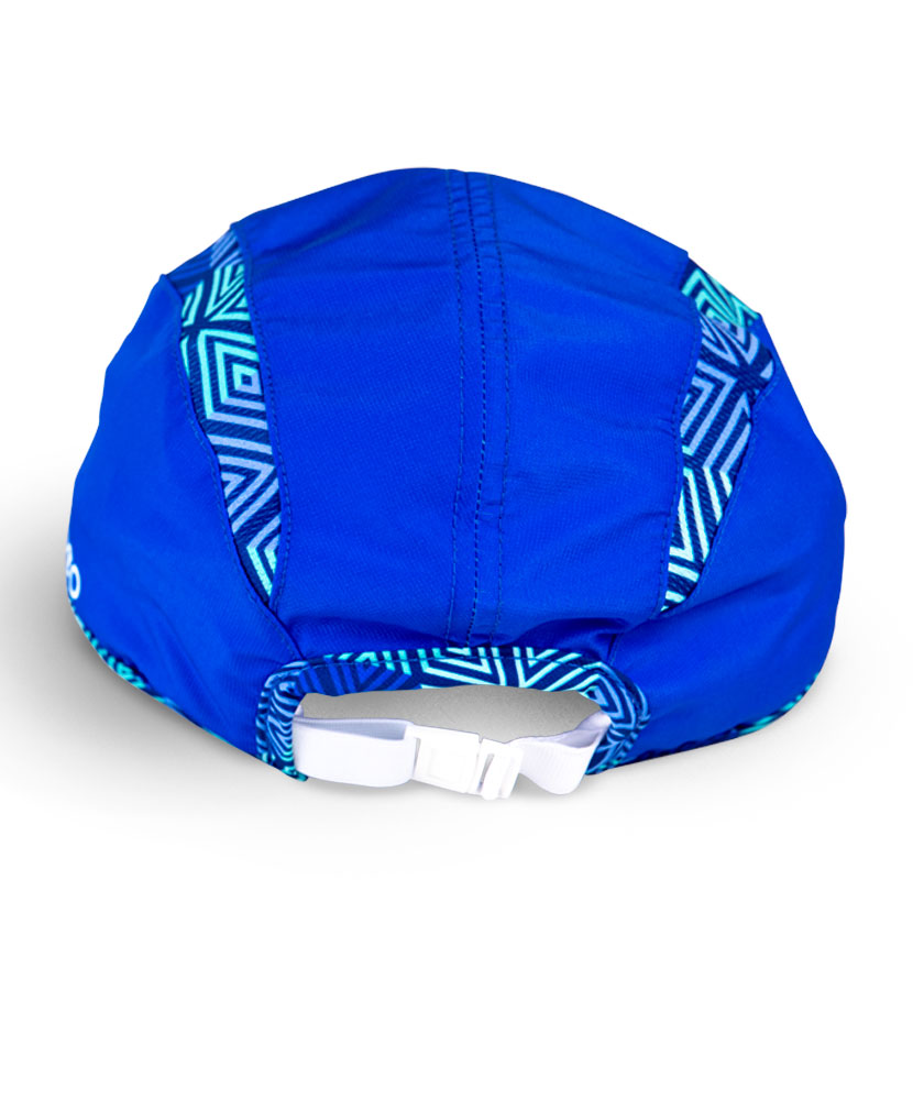 Geo Print and Blue Performance Running Hat