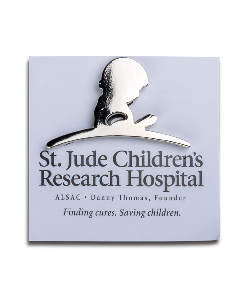 St. Jude Polished Silver Magnetic Lapel Pin