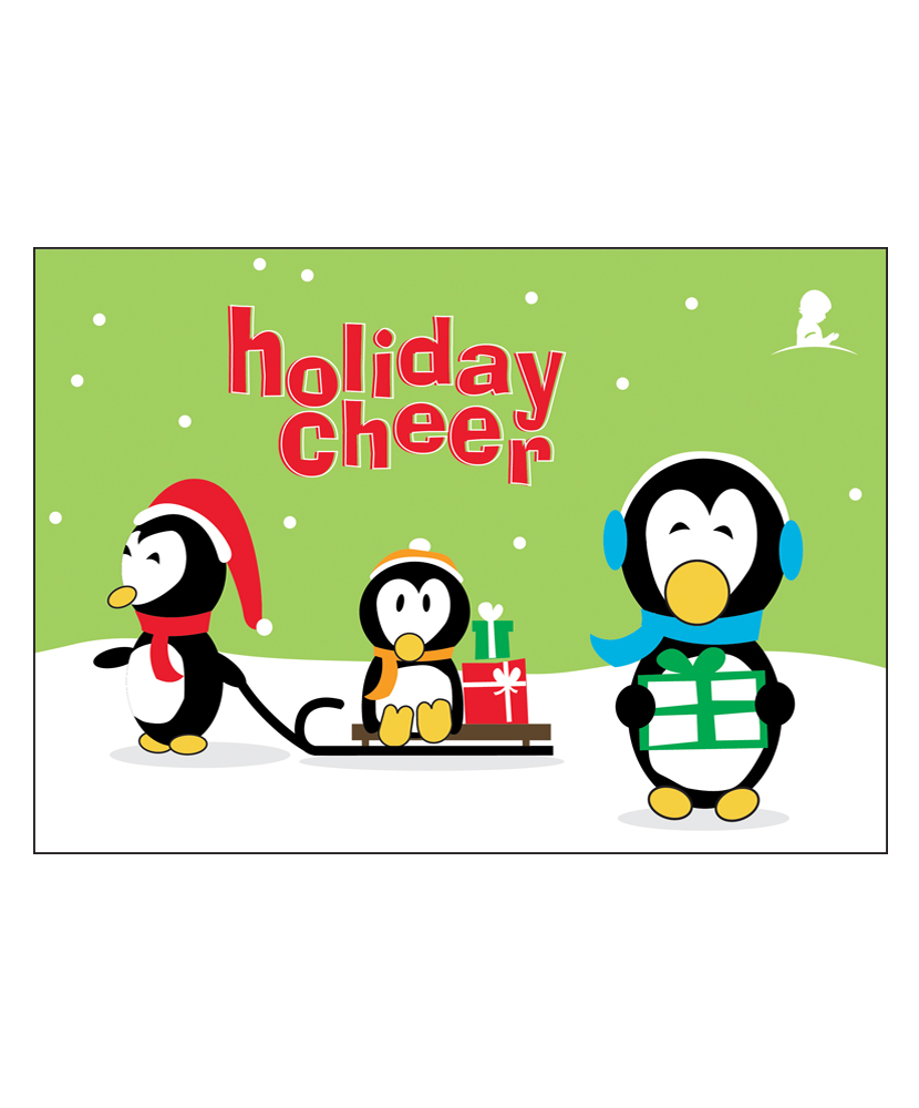 Penguin Holiday Greeting Cards - Set of 10