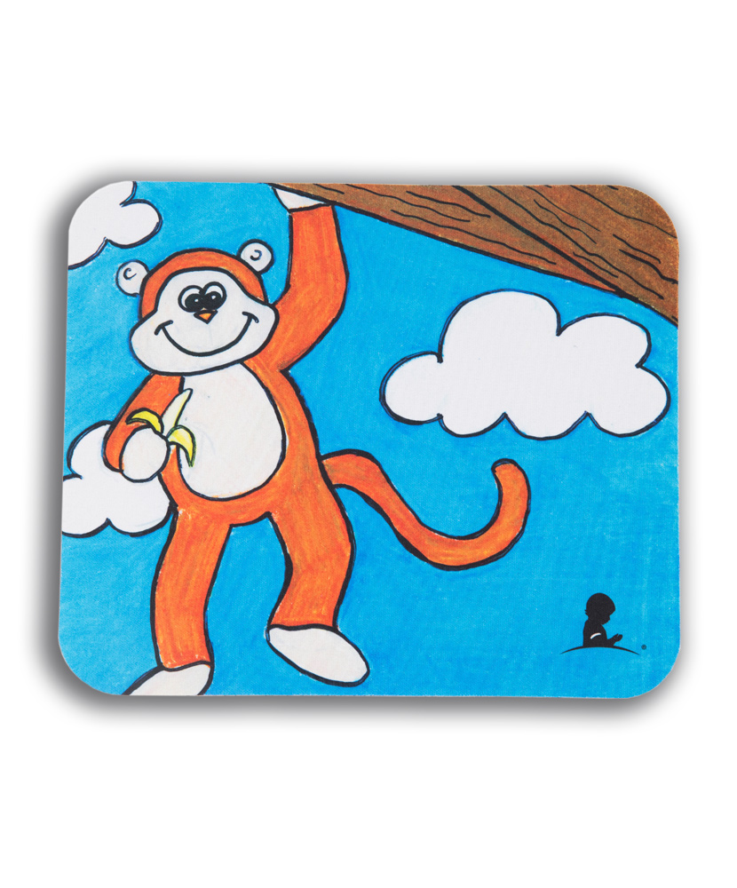 Patient Art Inspired Monkey Mousepad