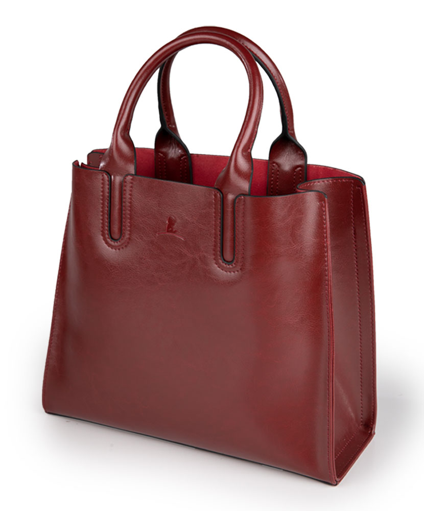 Genuine Leather Dark Red Shoulder Bag