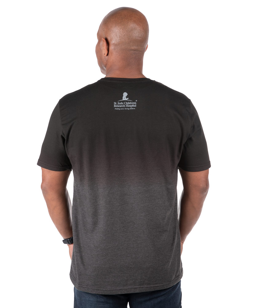 Dip-Dyed Heather Black Circle Banner T-Shirt