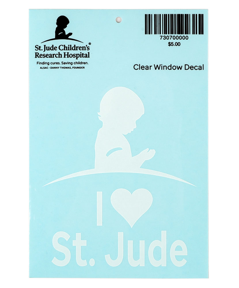 I Love St. Jude Car Decal