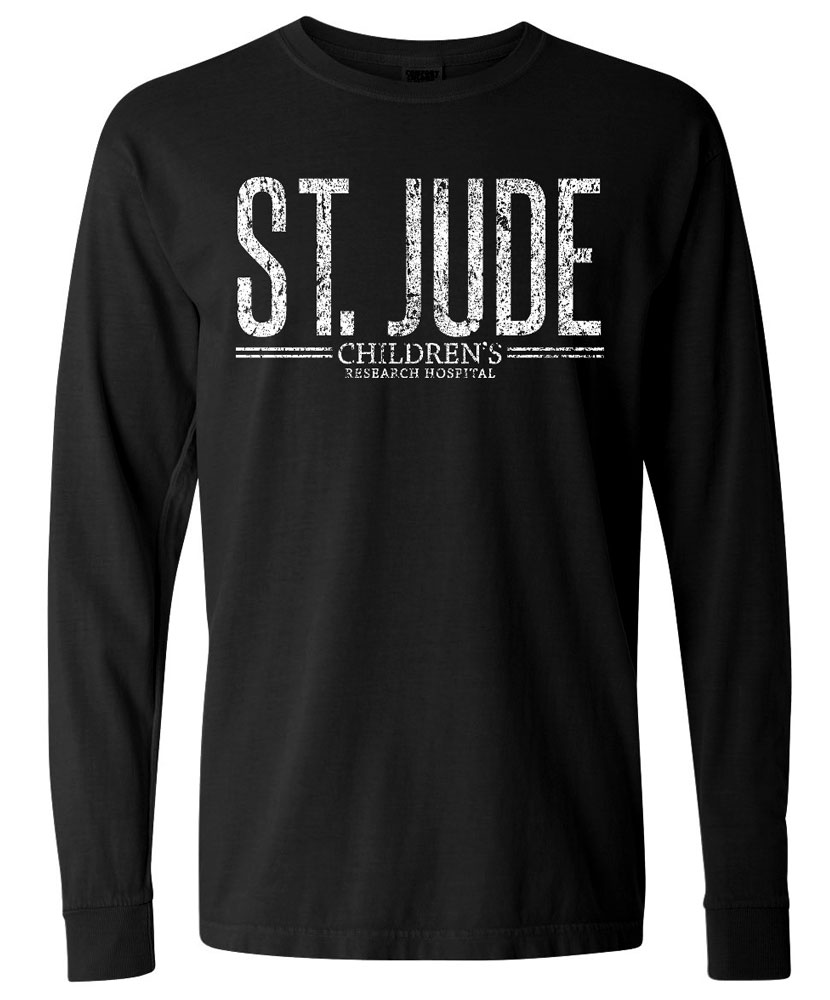 Distressed Design Long Sleeved T Shirt