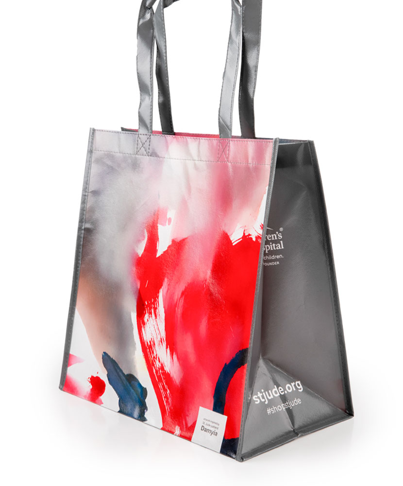Patient Art Abstract Paint Reusable Bag