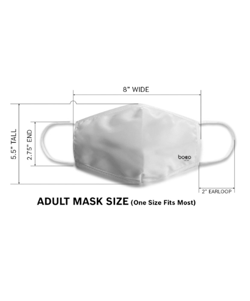 Red I Love St. Jude Adult Face Mask with Filter Pocket