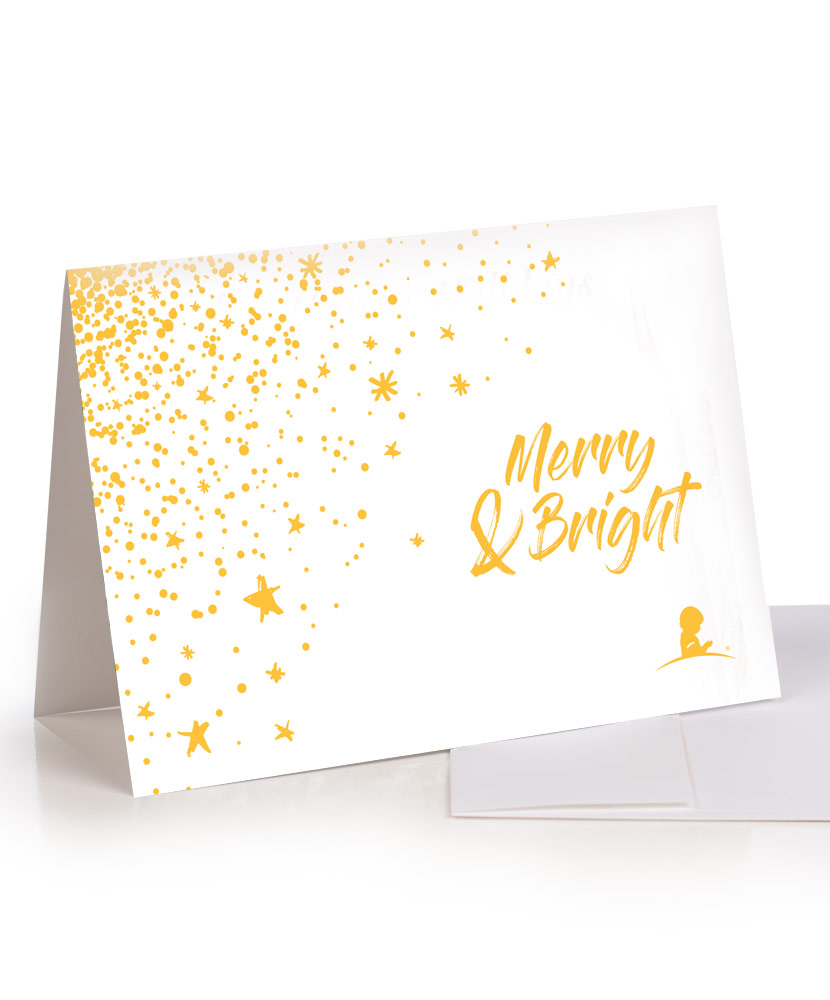 Merry & Bright Greeting Card - Set of 10