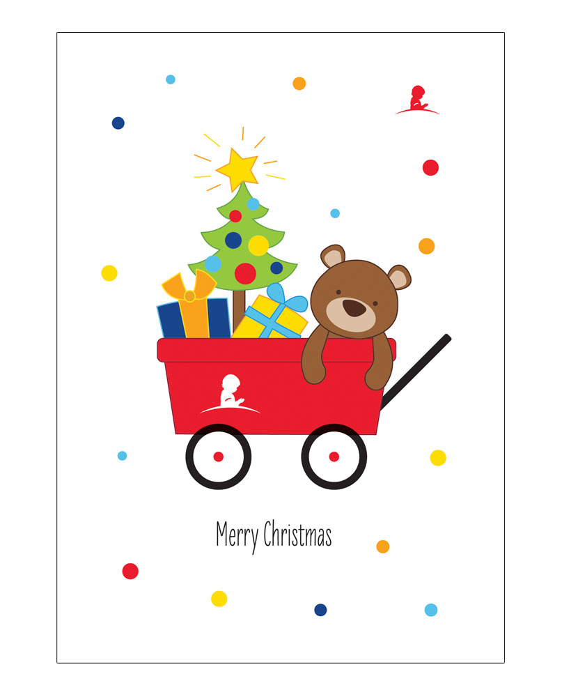 St. Jude Wagon Holiday Greeting Cards - Set of 10