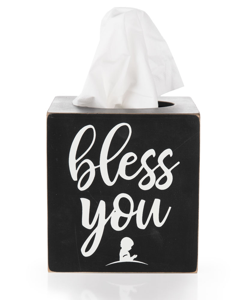 Bless You Tissue Box Cover