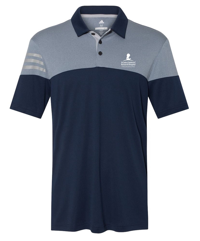 Men's Adidas® Navy Colorblock Polo