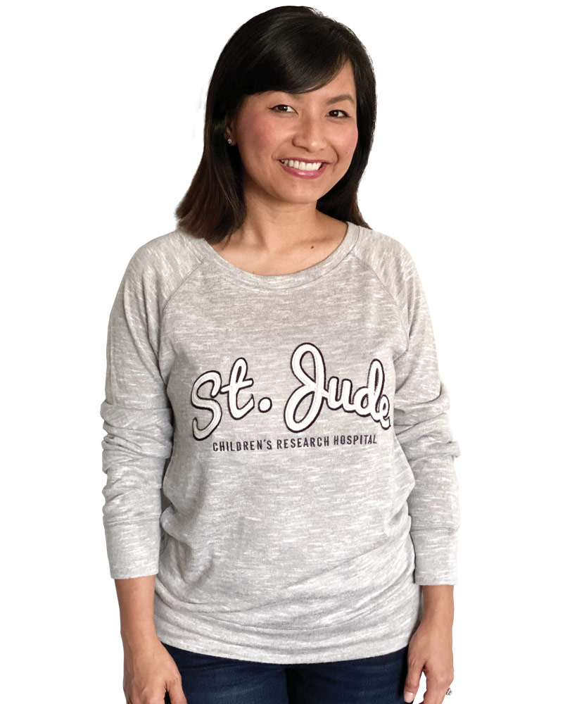 Women's Script Heather Grey Sweater