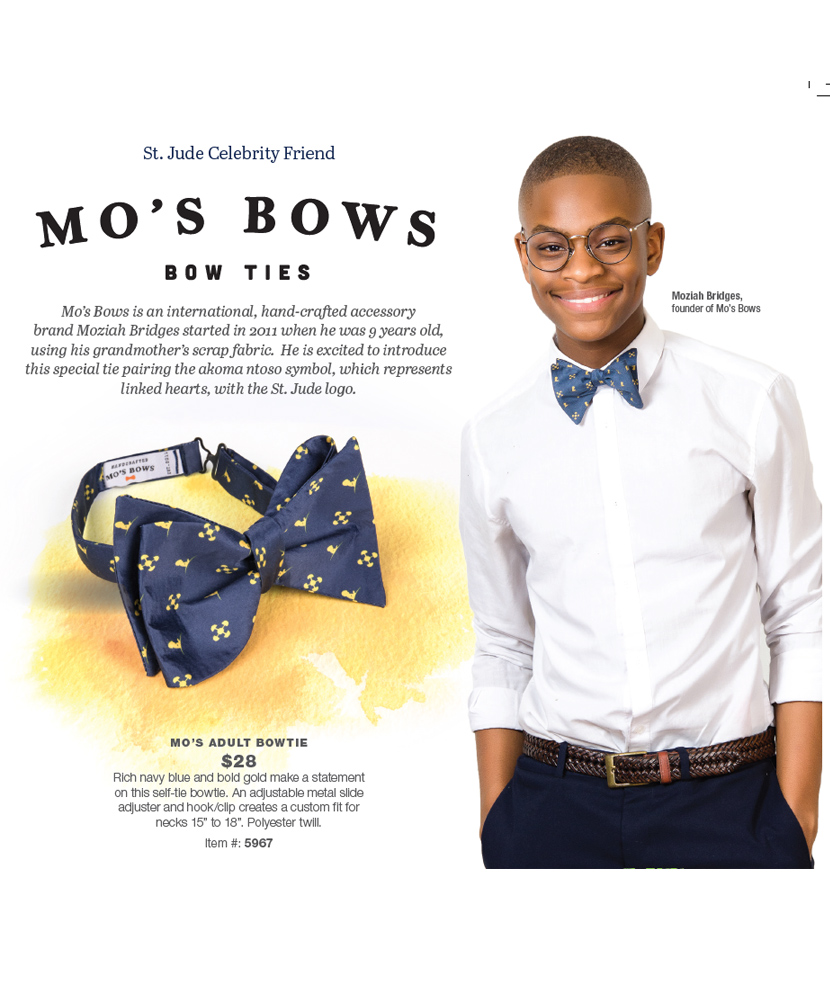 Mo's Bows St. Jude Bow Tie