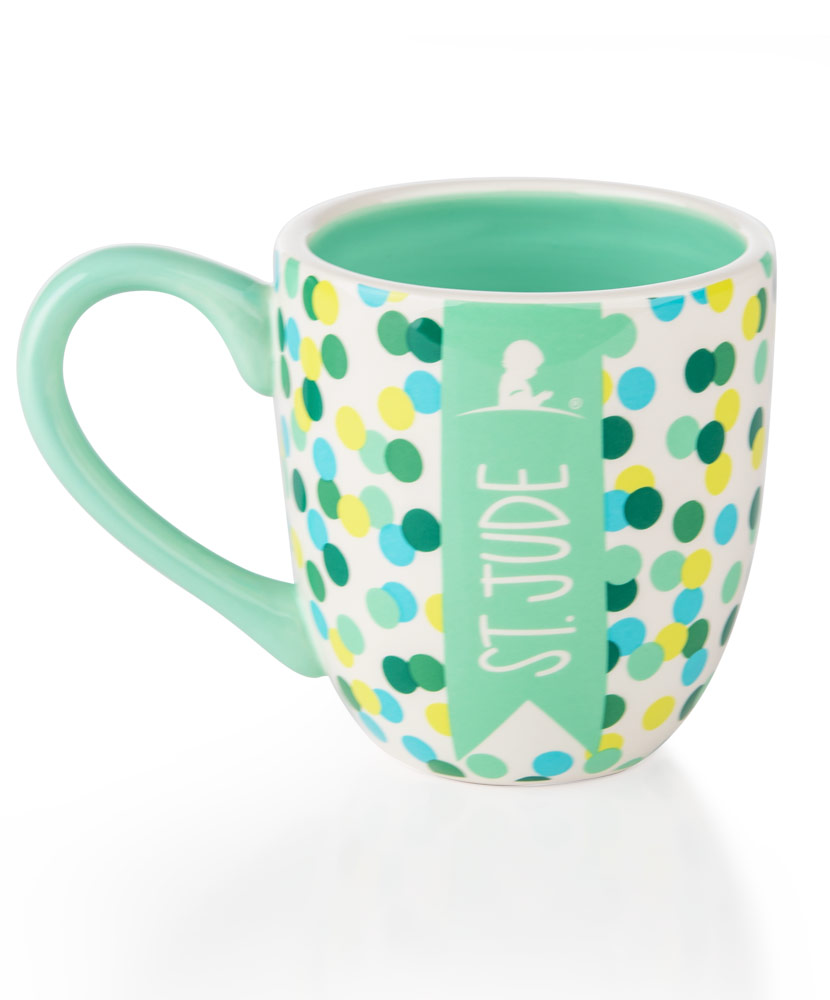 Green & Teal Dot Ceramic Mug