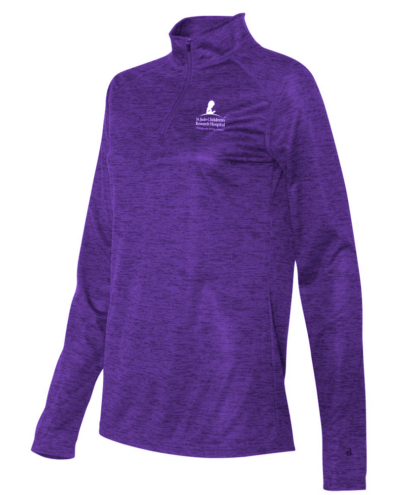Ladies Quarter Zip Performance Pullover