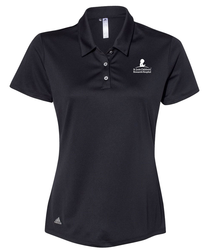 Women's Adidas® Performance Black Polo