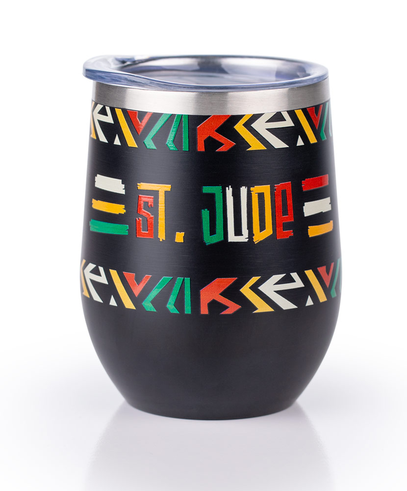Abstract Pattern 12 oz. Black Tumbler