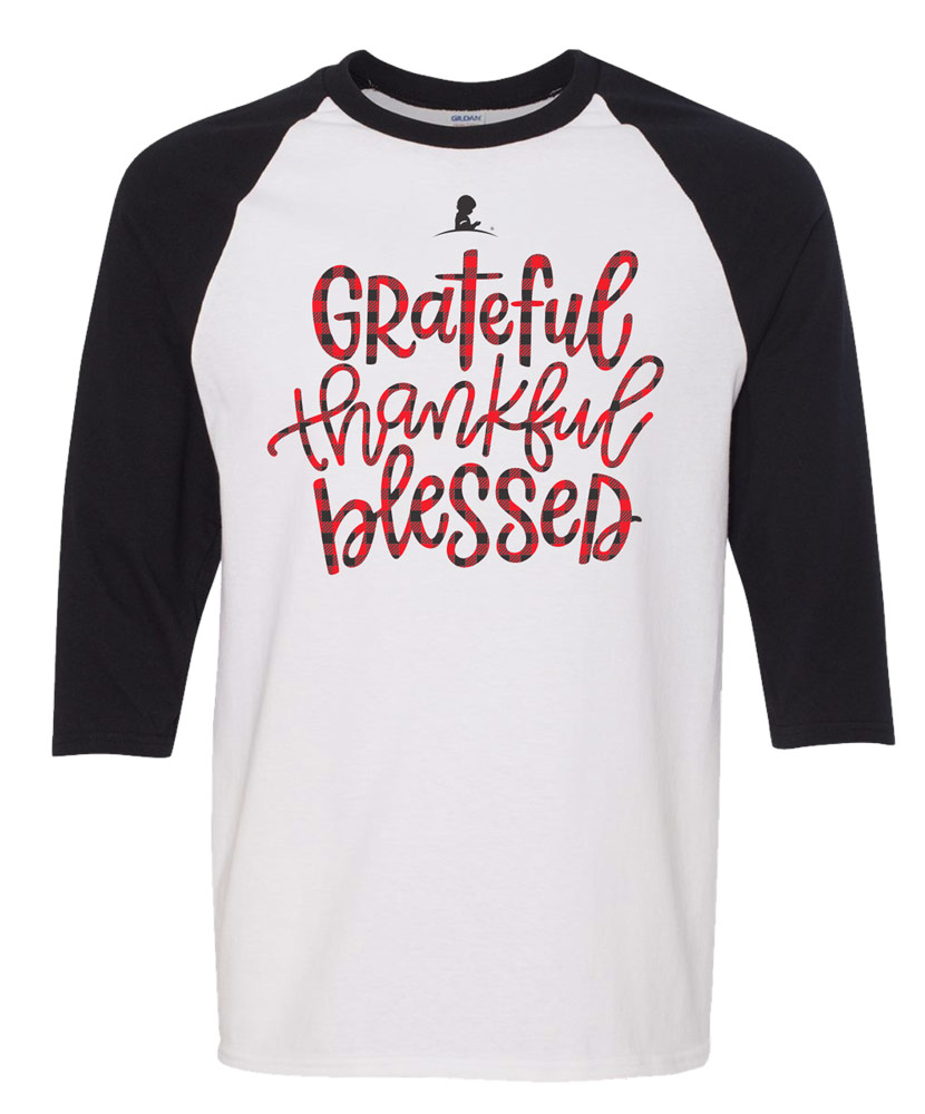 Adult Unisex Grateful Thankful Blessed Family T-Shirt