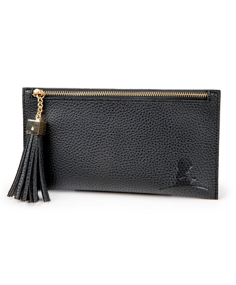 Womens Wallet with Tassel Black