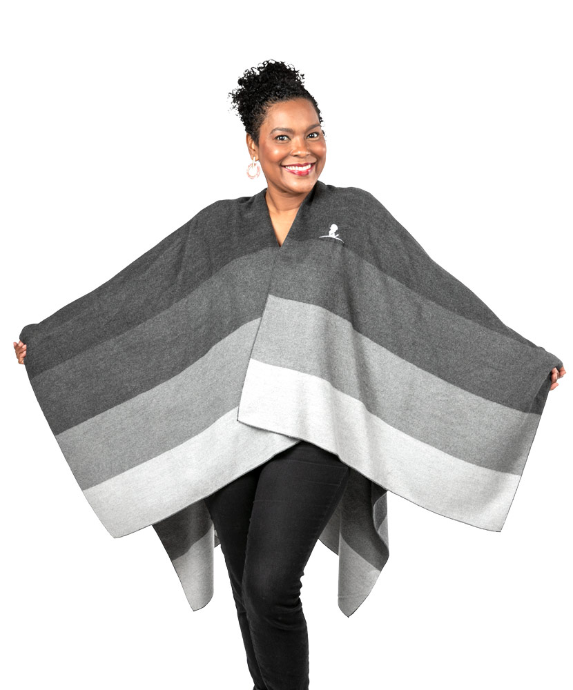 Tonal Striped Cape