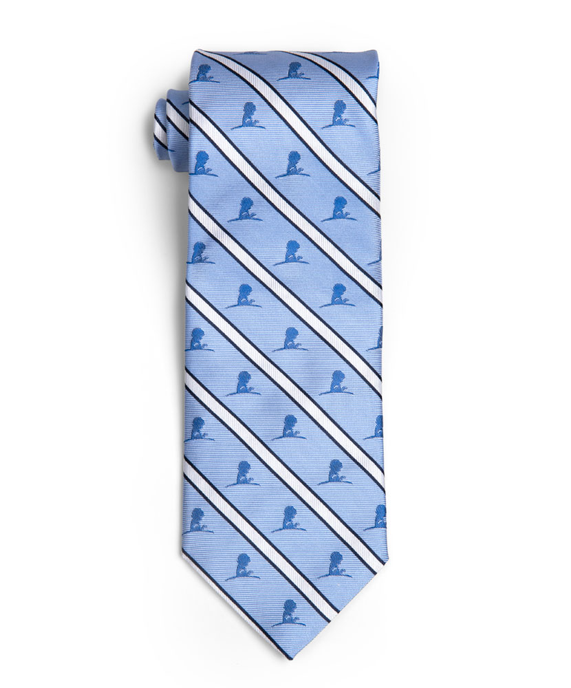 Brooks Brothers Blue Diagonal St. Jude Logo Tie