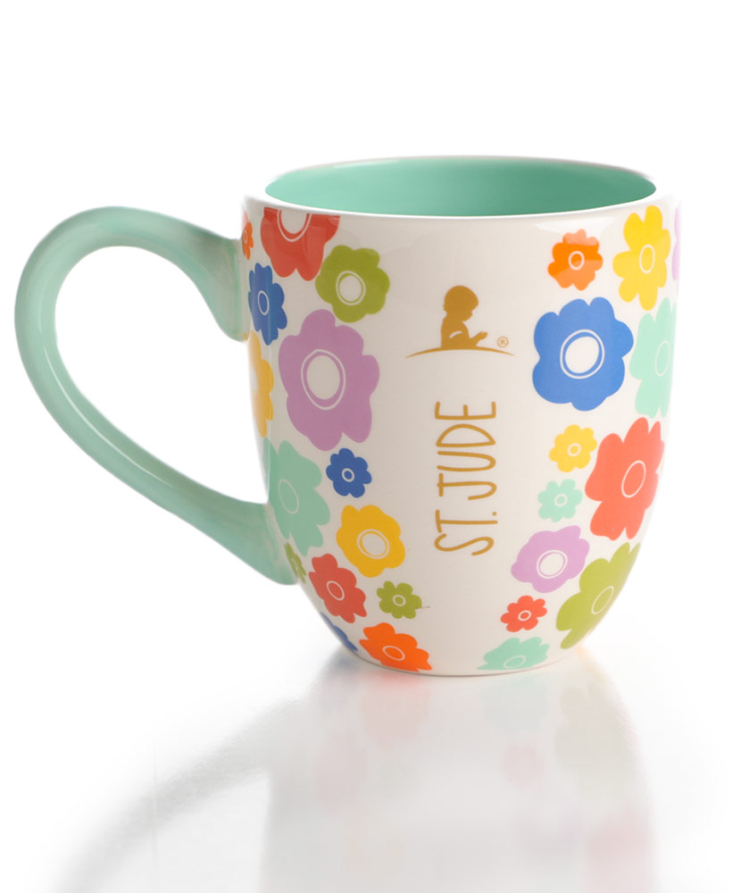 Floral Multicolored Ceramic Mug