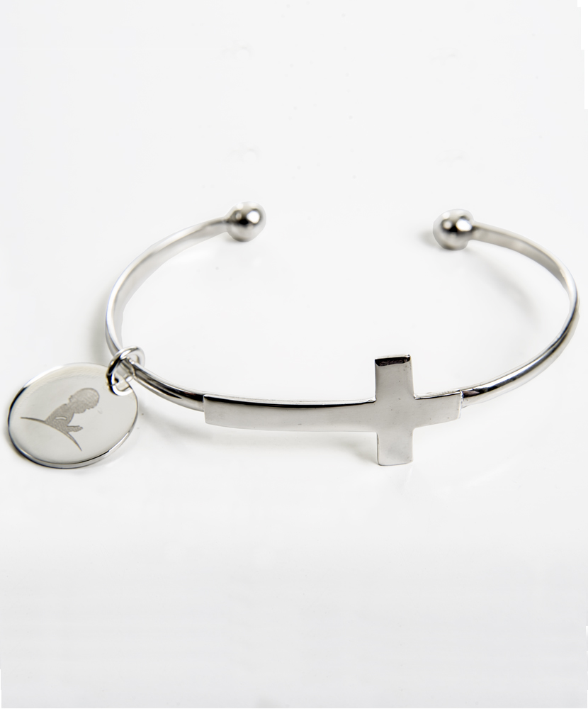 bracelet metal silver answer anti bangles allergic is inspirational cross prayer quotprayer the stretching bangle jewelry p charm finish m answerquot list mailing
