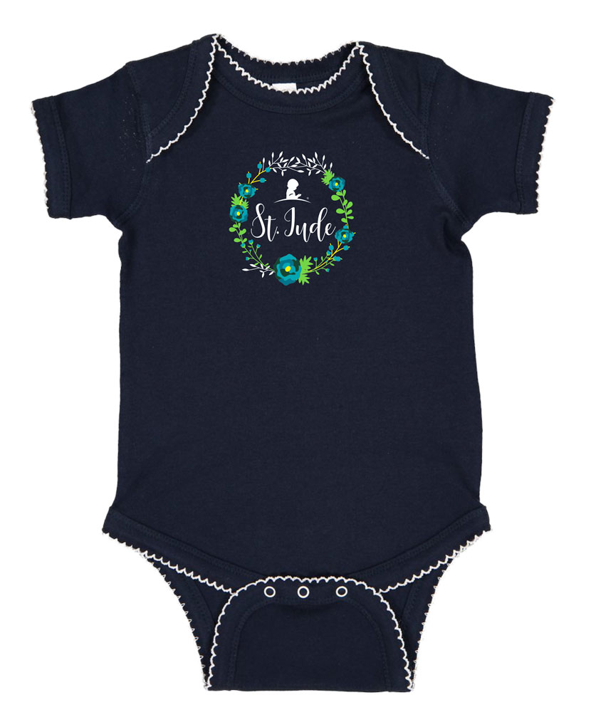 Infant Floral Wreath Onesie
