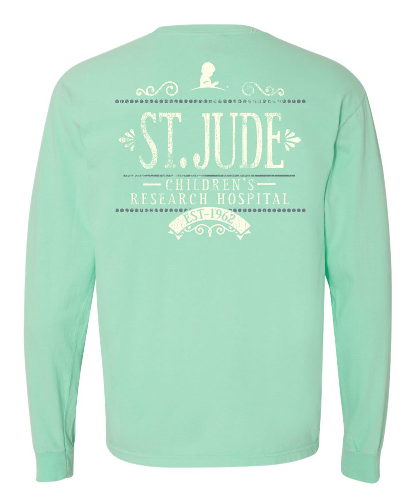8f0106c5603d96 Long Sleeved Distressed Floral T Shirt - St. Jude Gift Shop