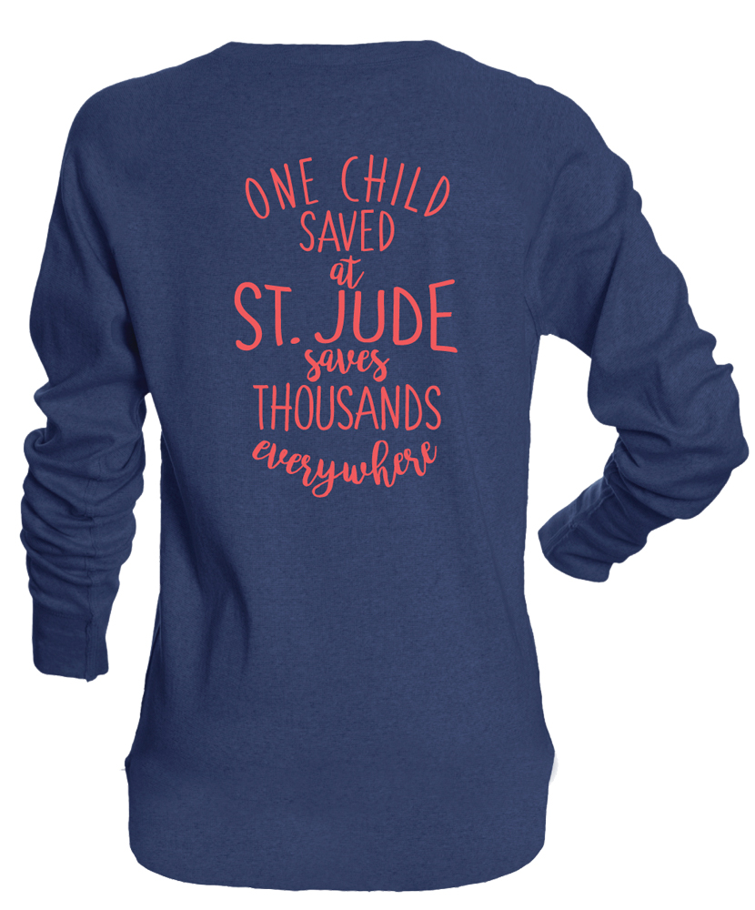 One Child Saved Long Sleeved T Shirt